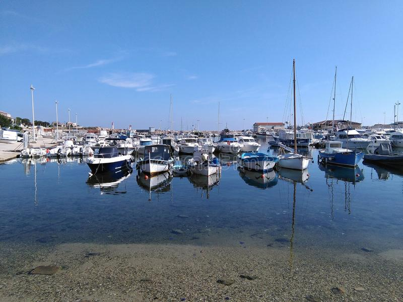 Port Carro in Provence royalty free stock photos