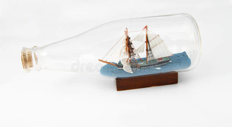 Download Ship in bottle stock image. Image of miniature, collect - 21021569
