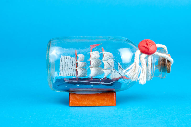 Download Ship in a bottle stock photo. Image of bottle, sailboat - 26396398