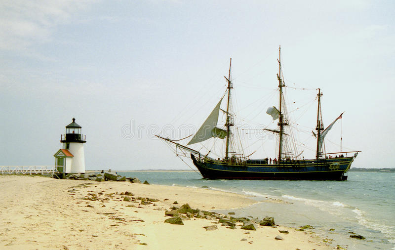 Download Ship Bounty At Brant Point Lighthouse Stock Photo - Image: 16708104