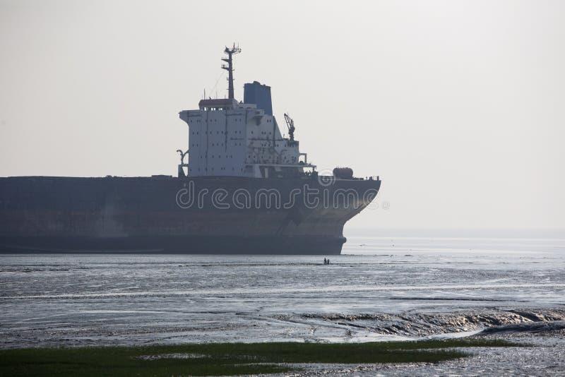 Ship Breaking yard stock image
