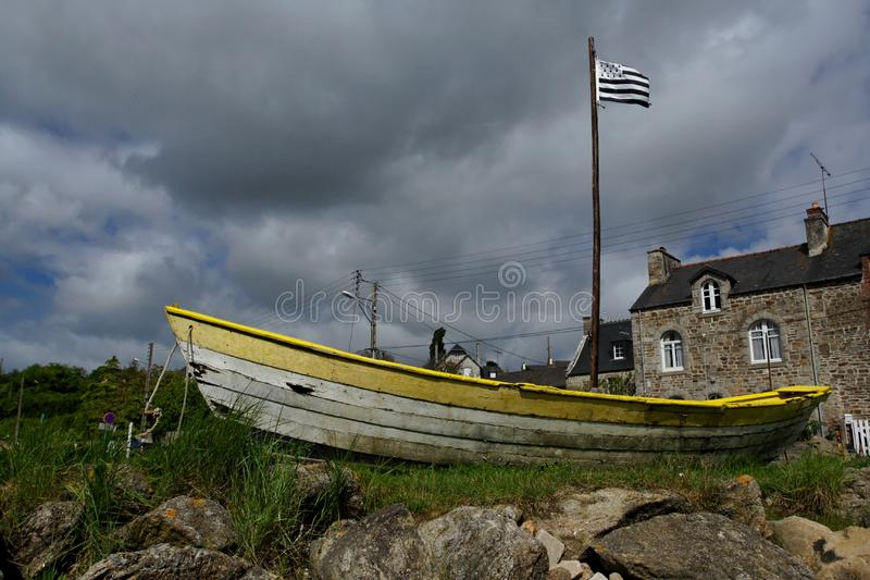 Ship in Brittany