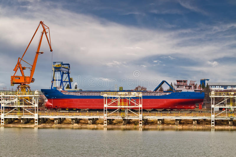Ship building royalty free stock images