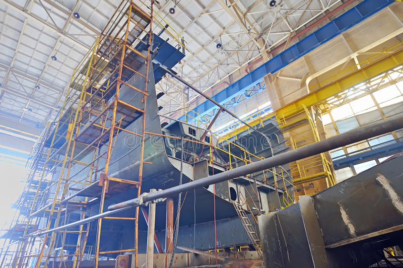 Ship building stock images