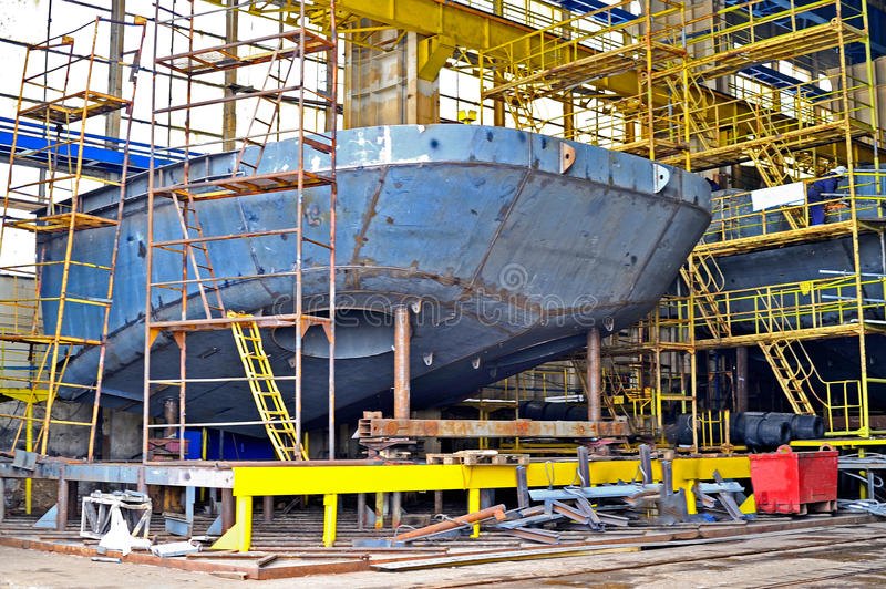 Ship building stock photo