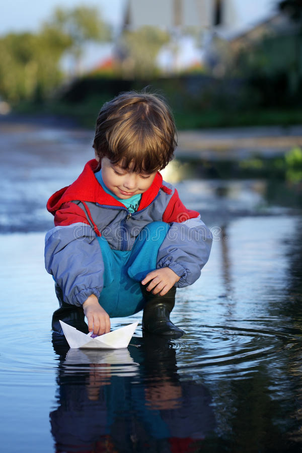 Download Ship in children hand stock photo. Image of imagination - 21028012