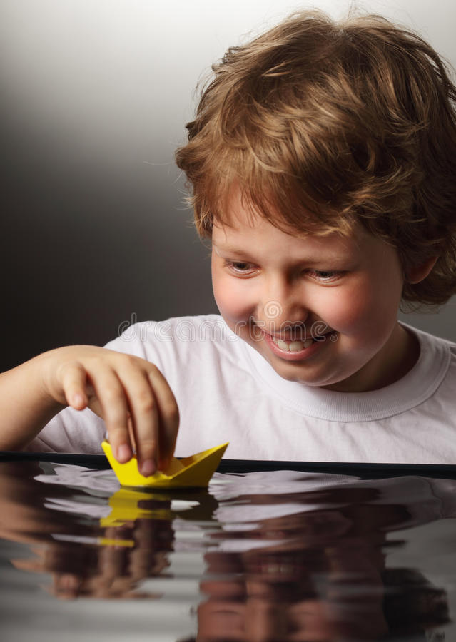 Download Ship in children hand stock image. Image of boat, start - 25376115