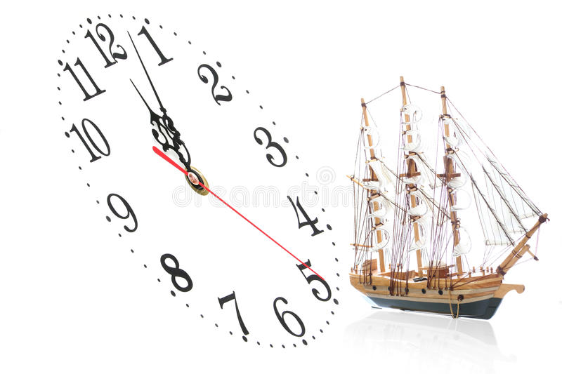 Download Ship and clock stock image. Image of travel, crush, background - 11107541