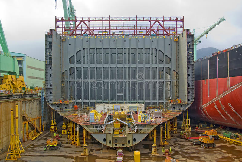 Ship in Construction stock photography