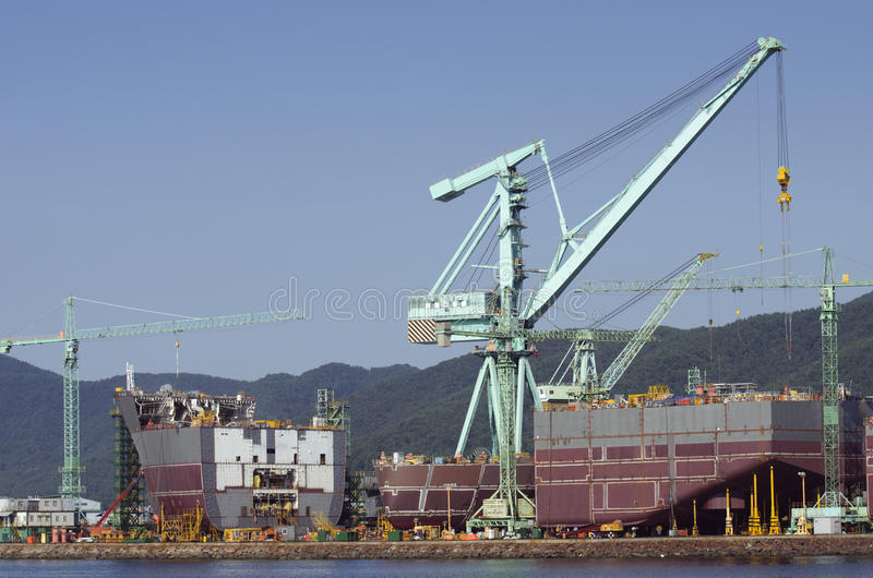 Ship in Construction royalty free stock photography