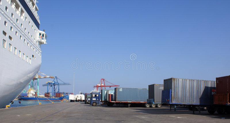 Ship and container