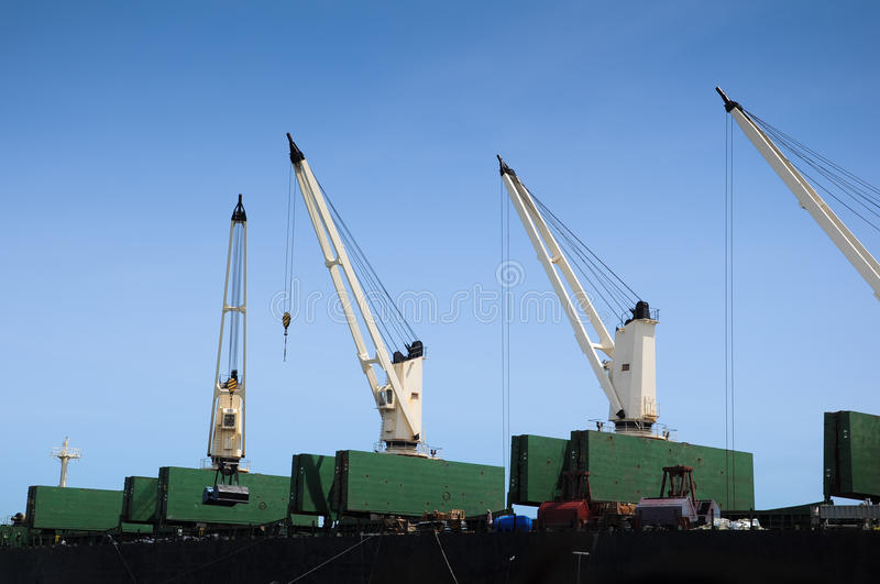 Download Ship Container Cranes Lift Close Up For Transport Story Purpose Editorial Photography - Image: 33532577