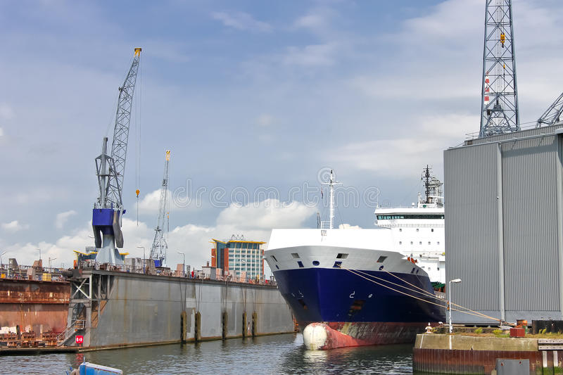 Download Ship and crane in shipyard stock image. Image of construction - 26830441