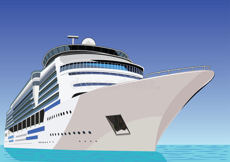 Ship. Cruise liner vector illustration