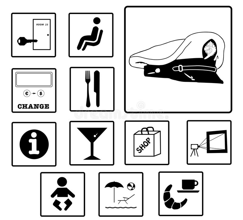 Free Ship Cruise Sign Icon Set Stock Image - 6991351