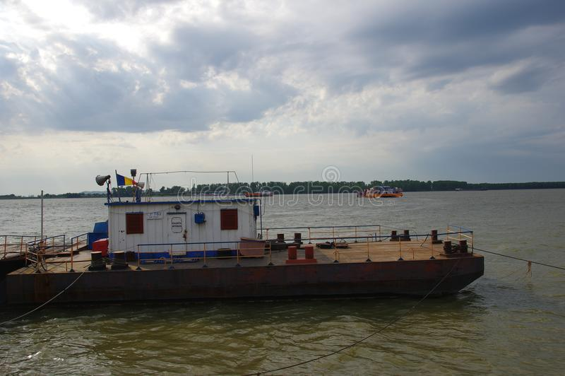 Ship on the Danube river 8 royalty free stock photography