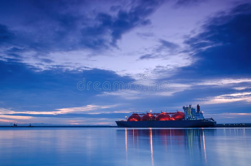SHIP AT DAWN stock images