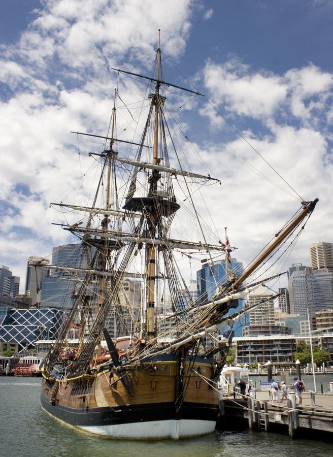 Ship de pilote Cook's images libres de droits