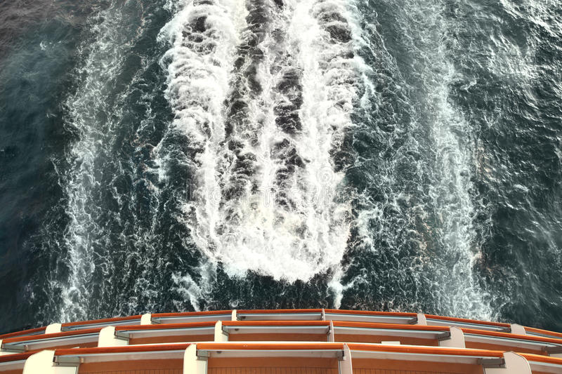 Download Ship Deck And Trail With Waves And Foam In Ocean Stock Image - Image: 15522313