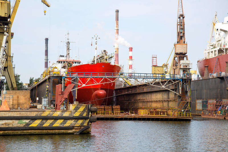 The ship at the dock royalty free stock photography