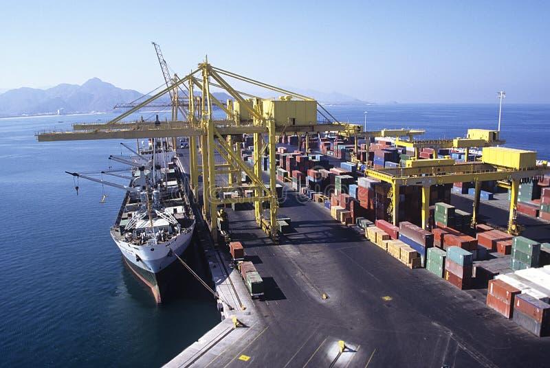 Ship Docking at Cargo Terminal stock photo