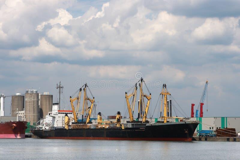 Ship in the docks stock photo