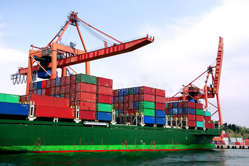Download Ship in docks stock image. Image of freeport, delivery - 9988055