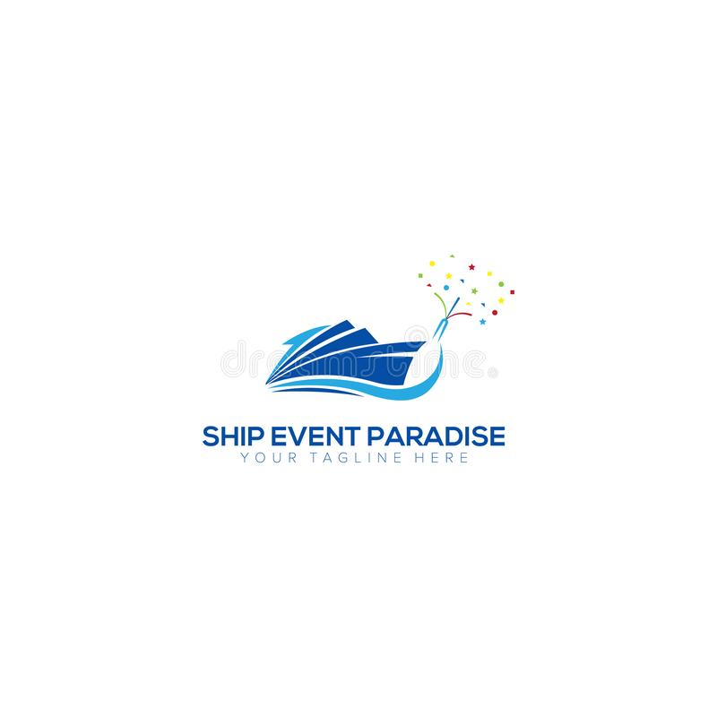 Ship Event Party Logo Design, Ship Paradise Logo vector illustration