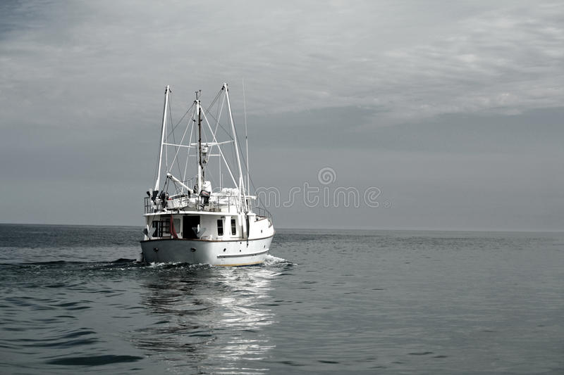 Download Ship heading out to Sea stock image. Image of fishing - 18136457