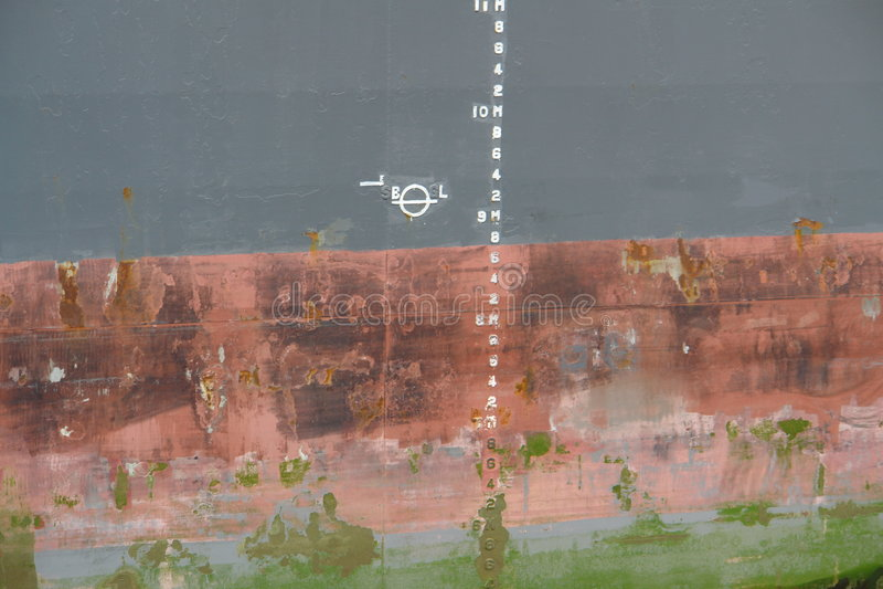 Download Ship hull stock image. Image of gray, markings, draft - 1054963