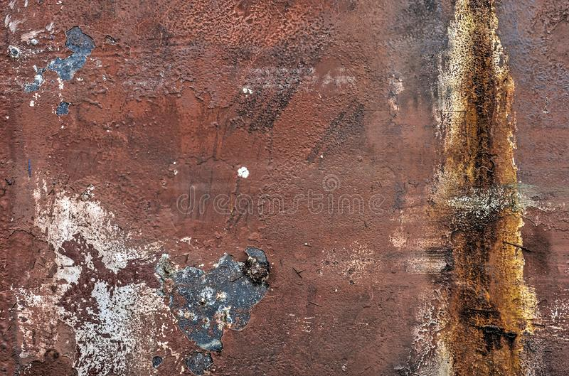 Peeling paint ship hull stock photography