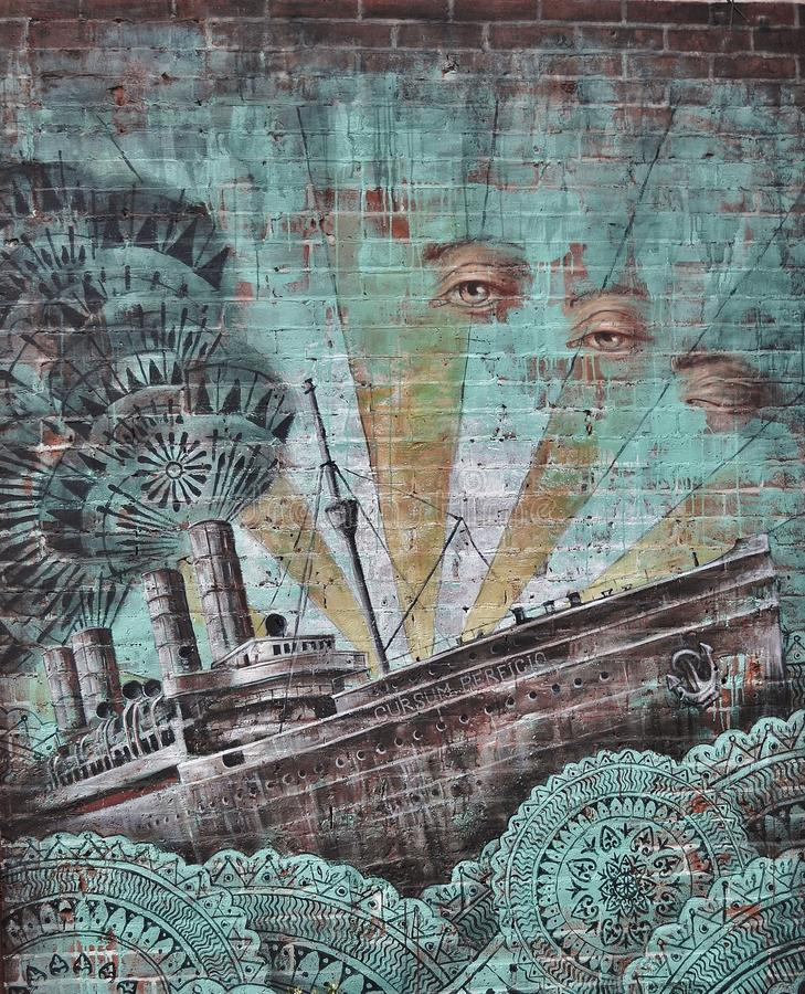 Ship And Human Eye Painted On Wall Free Public Domain Cc0 Image