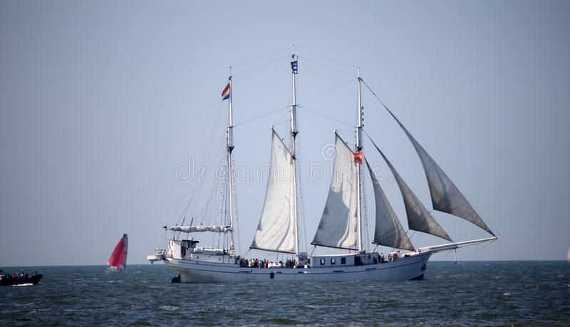 Ship i havet royaltyfri foto
