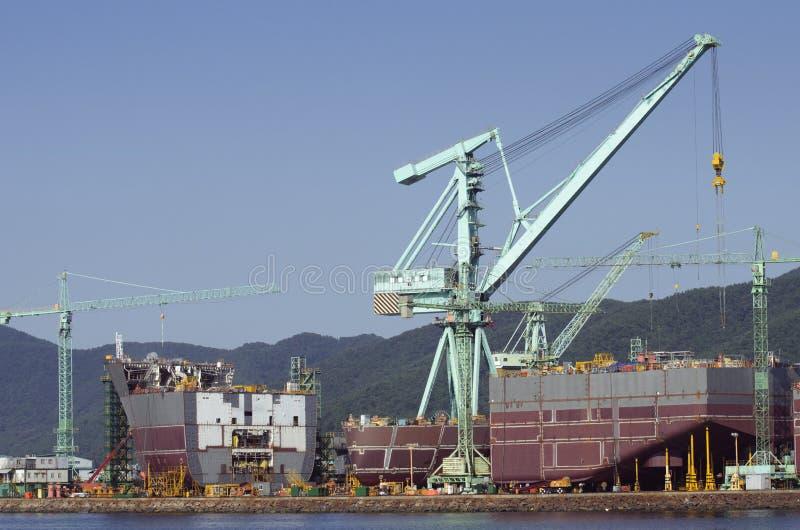 Ship i konstruktion royaltyfri fotografi