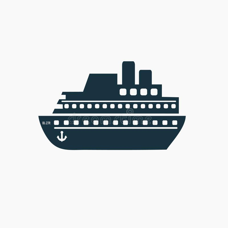 Ship, cruise icon vector. Shipping symbol. stock illustration