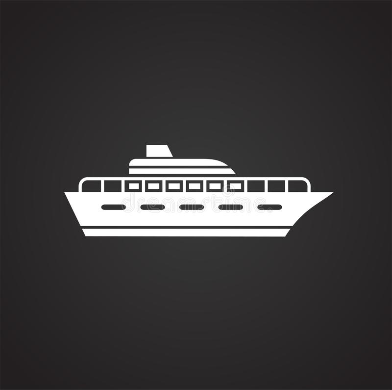 Ship icon on background for graphic and web design. Simple vector sign. Internet concept symbol for website button or. Mobile app vector illustration