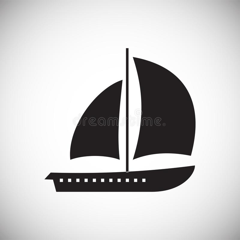 Ship icon on background for graphic and web design. Simple vector sign. Internet concept symbol for website button or. Mobile app stock illustration