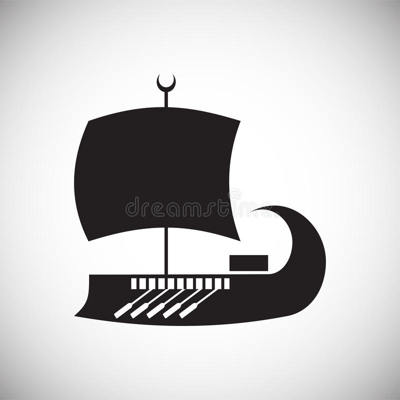 Ship icon on background for graphic and web design. Simple vector sign. Internet concept symbol for website button or. Mobile app royalty free illustration