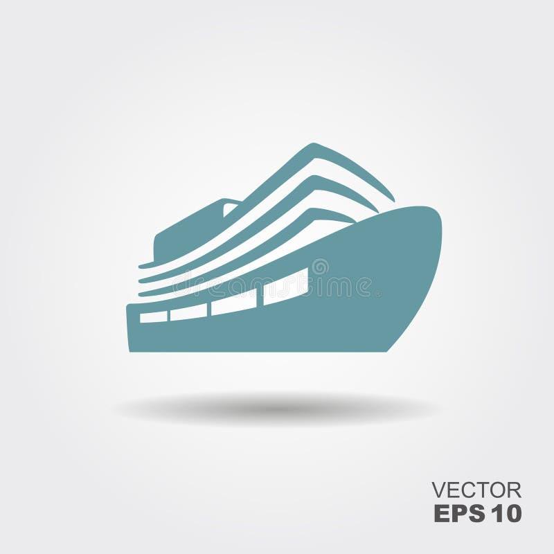 Ship icon Flat. royalty free illustration