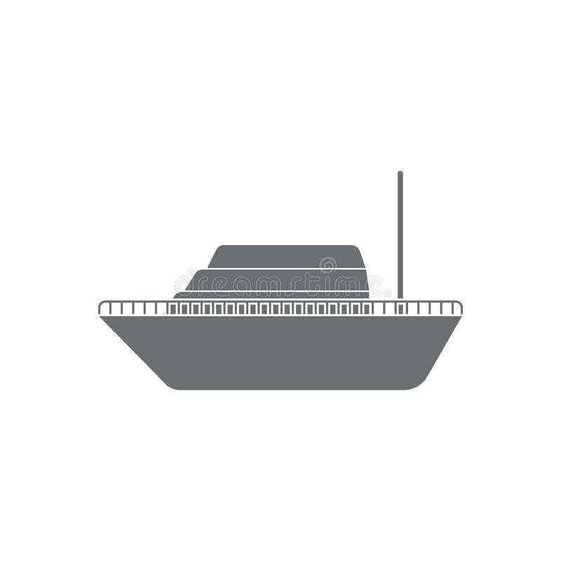 Ship icon. Simple element illustration. Ship symbol design from Transport collection set. Can be used for web and mobile stock illustration