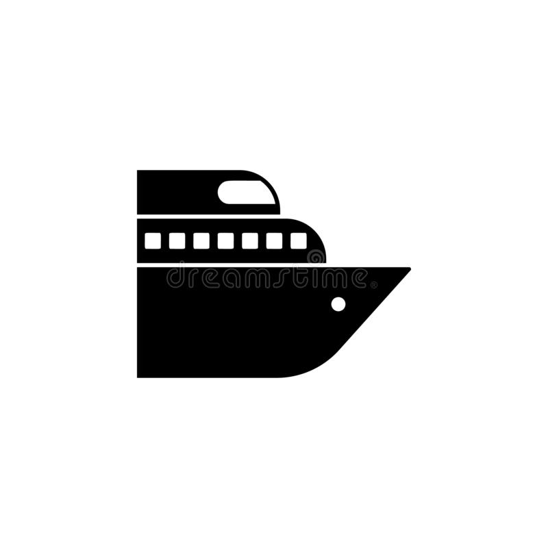 Ship icon. Simple glyph vector of universal set icons for UI and UX, website or mobile application. On white background royalty free illustration