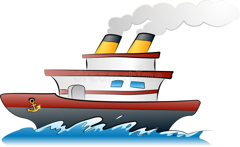 Ship illustration stock illustration