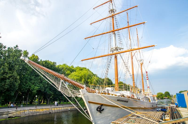 Ship in Klaipeda, Lithuania stock photography