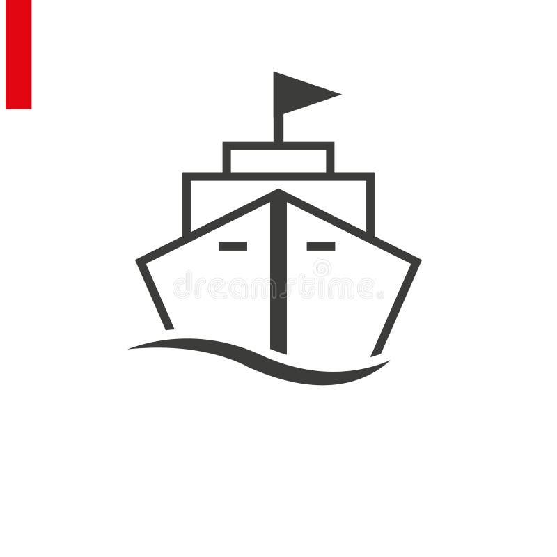 Ship line icon on white background. Illustration eps 10 stock illustration