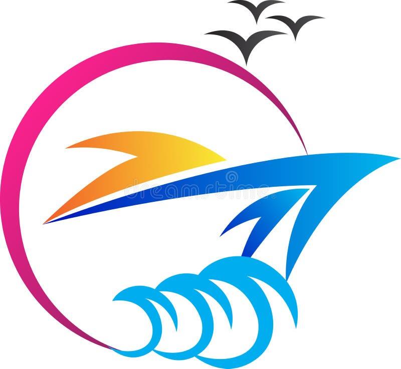 Ship logo. A vector drawing represents ship logo design
