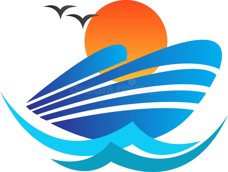 Ship logo royalty free illustration