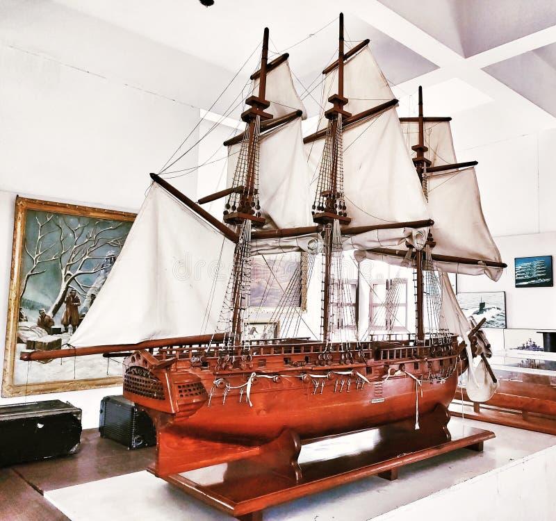 Ship made by wood,ludhiana,india on 2019:Maharaja Ranjit Singh War Museum established 1999. Ludhiana Punjab ,india:on 16 August 2019 ship made by wood,Maharaja royalty free stock photography