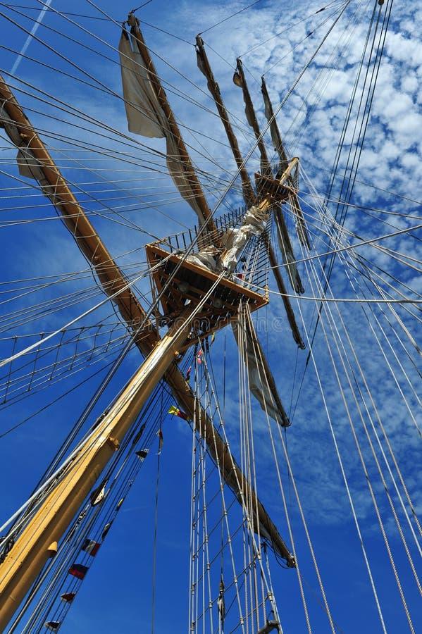 Ship mast. A ship mast against a blue sky royalty free stock image