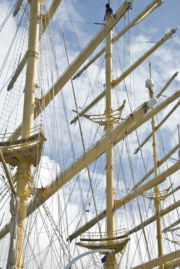 Download Ship masts stock photo. Image of mast, wooden, ocean - 21688230