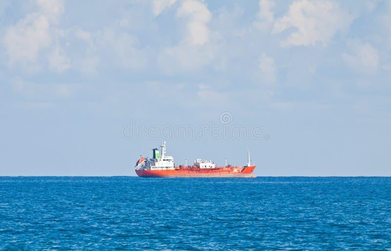Ship in Mediterranean sea near Cyprus stock photography
